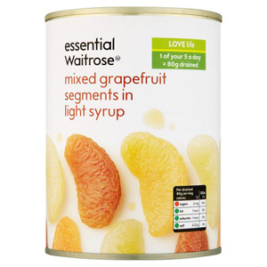 essential Waitrose Mixed Grapefruit Segments in Syrup