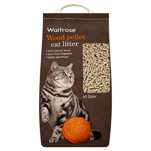 Waitrose Wood Pellet Cat Litter 10ltr