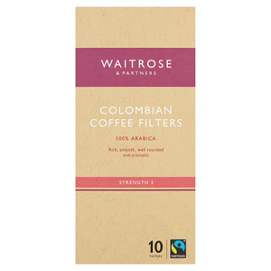 Waitrose 10 Coffee Filters Colombian