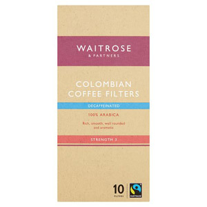 Waitrose 10 Coffee Filters Decaffeinated