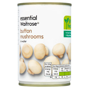essential Waitrose Button Mushrooms