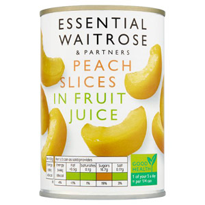 essential Waitrose Peach Slices in Fruit Juice