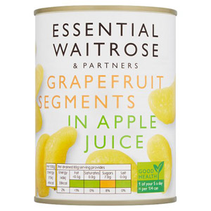 essential Waitrose Grapefruit Segments in Juice