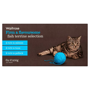 Waitrose Cat Food Terrine Fish Selection 6 Pack