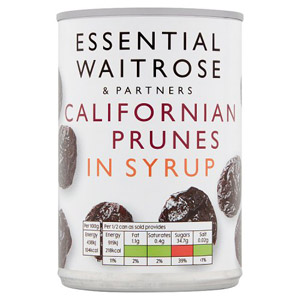 essential Waitrose Prunes in Light Syrup