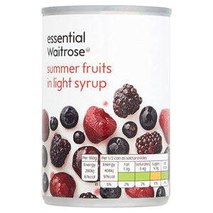 essential Waitrose Summer Fruits in Syrup