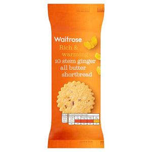 Waitrose Shortbread Stem Ginger