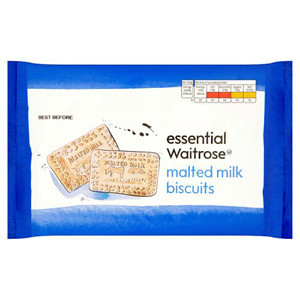 essential Waitrose Biscuits Malted Milk