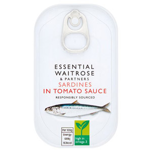essential Waitrose Sardines in Tomato Sauce