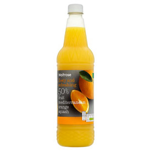 Waitrose Squash 50% Orange Juice
