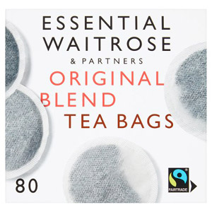 essential Waitrose Original Blend Round Teabags 80s