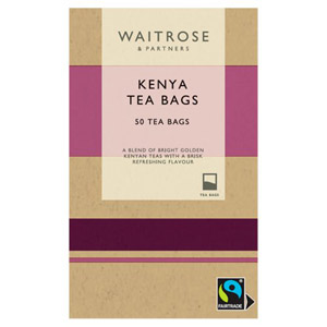 Waitrose Fairtrade Kenya Teabags 50s