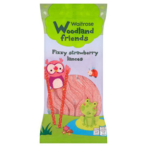 Waitrose Woodland Friends Fizzy Strawberry Laces
