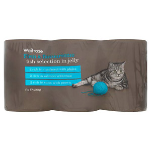 Waitrose Cat Food Special Recipe Fish Jelly Selection 6 Pack