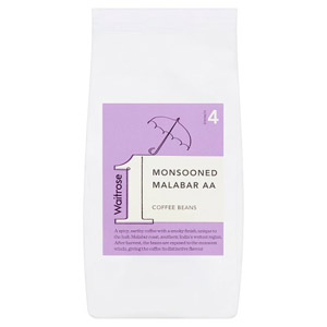 Waitrose Coffee Beans Monsooned Malabar