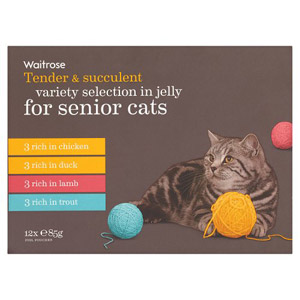 Waitrose Cat Food Senior Variety Selection in Jelly 12 Pack