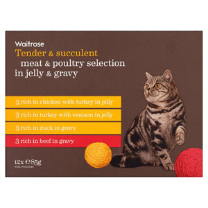 Waitrose Cat Food Meat & Poultry in Jelly & Gravy 12 Pack