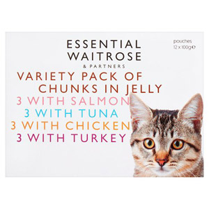 essential Waitrose Cat Food Meat & Fish Selection in Jelly