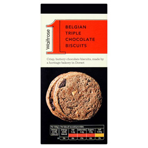 Waitrose 1 Triple Chocolate Biscuits