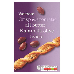 Waitrose All Butter Kalamata Olive Twists