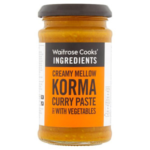 Waitrose Cooks Ingredients Korma Curry Paste