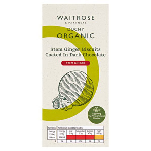 Waitrose Duchy Organic Ginger & Chocolate Biscuits
