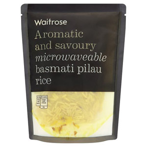 Waitrose Microwavable Pilau Basmati Rice