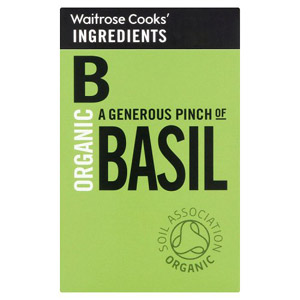 Waitrose Cooks Ingredients Organic Basil