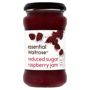 essential Waitrose Jam Reduced Sugar Raspberry