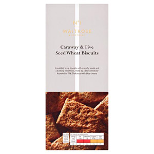 Waitrose & Partners No.1 Caraway & 5 Seed Wholemeal Biscuits