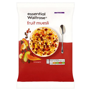 essential Waitrose Muesli Fruit