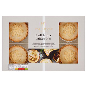 Waitrose & Partners No.1 Christmas All Butter Mince Pies 6 Pack