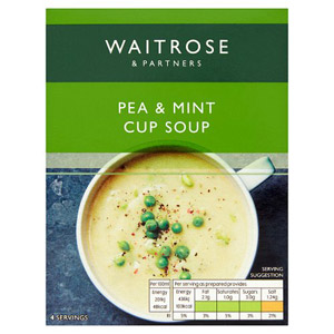 Waitrose Cup Soup Pea & Mint 4 Pack