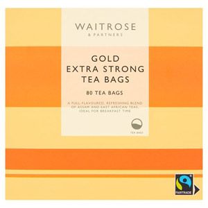 Waitrose Gold Extra Strong 80 Tea Bags