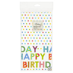 Waitrose Home Linen Feed Birthday Table Cover