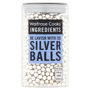 Waitrose Cooks Ingredients Silver Balls