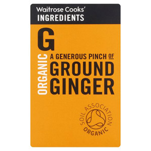Waitrose Cooks Ingredients Organic Ginger Powder