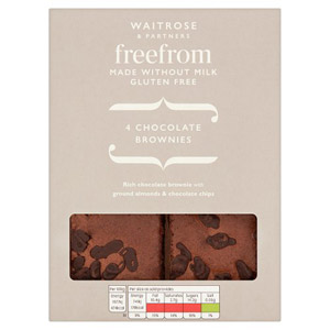 Waitrose LOVE life Free From Chocolate Brownies 4 Pack