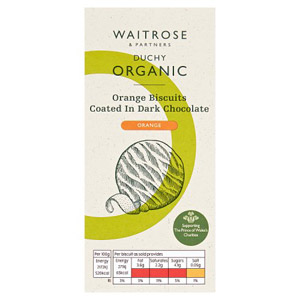Waitrose Duchy Organic Orange & Chocolate Biscuits