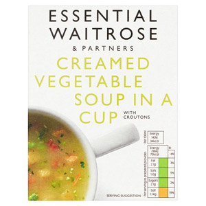 essential Waitrose Cup Soup Creamed Vegetable 4 Pack