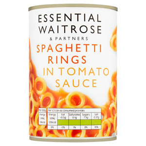 essential Waitrose Spaghetti Rings