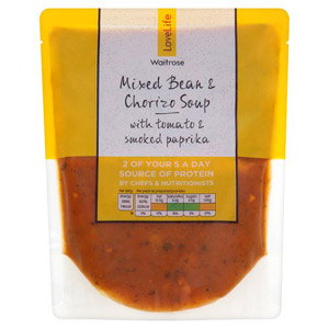 Waitrose LOVE life Mixed Bean & Chorizo Soup