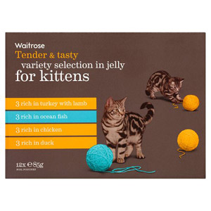 Waitrose Kitten Food Variety Selection in Jelly 12 Pack