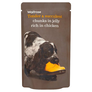 Waitrose Dog Food Chicken Chunks in Jelly