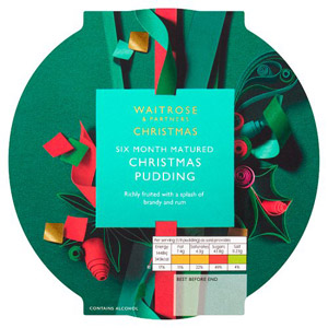 Waitrose Christmas Richly Fruited Christmas Pudding 800g
