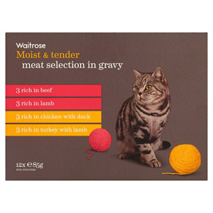 Waitrose Cat Food Meat Selection in Gravy 12 Pack