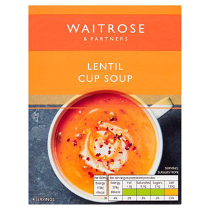 Waitrose Cup Soup Creamy Spicy Lentil 4 Pack