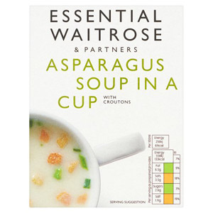 essential Waitrose Cup Soup Asparagus 4 Pack