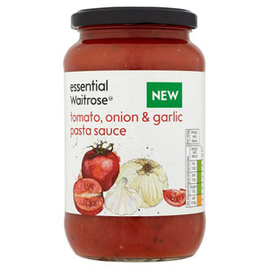 essential Waitrose Tomato Onion & Garlic Pasta Sauce