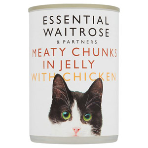 essential Waitrose Cat Food Chicken Chunks in Jelly